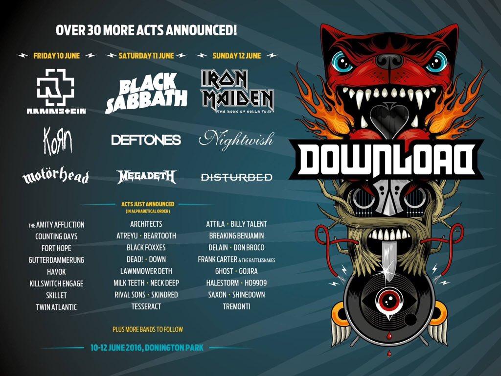 Download festival 2016 line up.